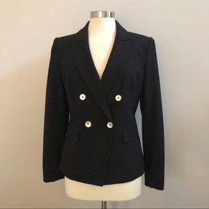 DKNY Black gold nwot black fitted blazer 8